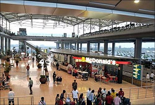 Hyderabad airport.