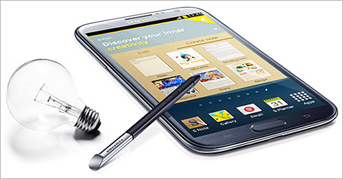 New Galaxy Note II.