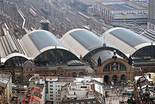 Frankfurt Central Station.