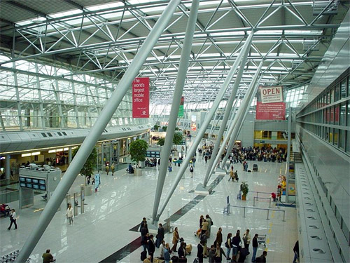 Duesseldorf international terminal.
