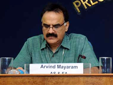 Economic affairs secretary Arvind Mayaram.