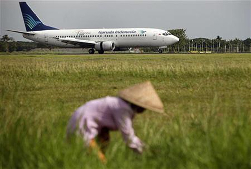 A Garuda Indonesia airline Boeing 737 prepares to take off at the Sukarno- Hatta airport in Cengkareng outskirt of Jakarta.