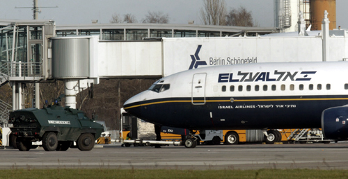 Israel's national carrier El Al Airlines at Berlin Schoenefeld.
