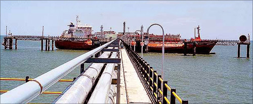 Larsen and Toubro built jetty at Karaikal, Puduchery.