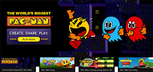 Pac-Man game.