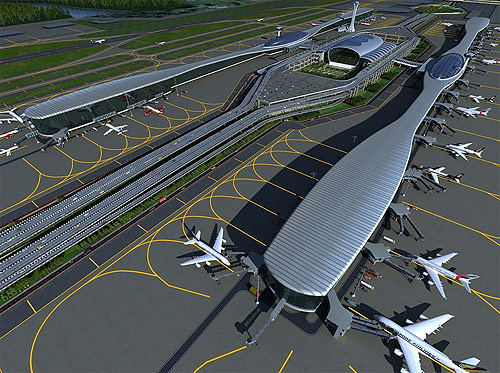 Navi Mumbai Airport project.
