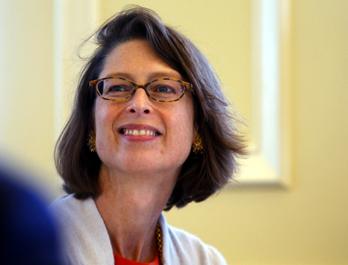 Abigail Johnson, President of Fidelity Personal, Workplace and Institutional Services, attends the Boston College Chief Executives' Club of Boston luncheon in Boston.