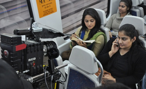 Delhi Airport Metro train.