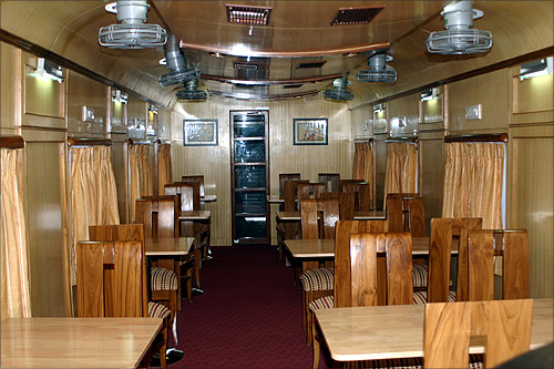 Interior of Restaurant Car for Senegal Railways.