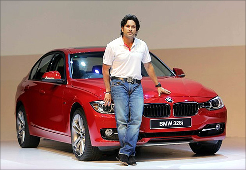 Sachin Tendulkar launches BMW 3 Series.