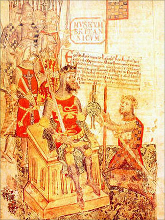 Alan the Red , Lord of Richmond (right), swear to William the Conqueror.