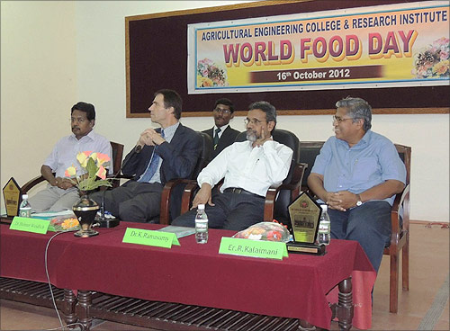Prof. Helmut at the Tamil Nadu Agricultural University.