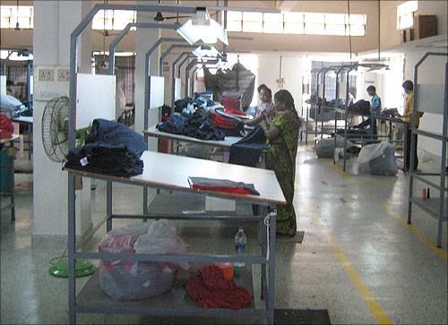 Factory at Tirupur.