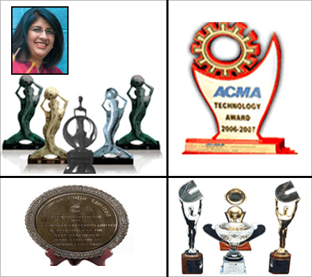 Awards won by Sundram Fasteners,  Arathi Krishna (inset).