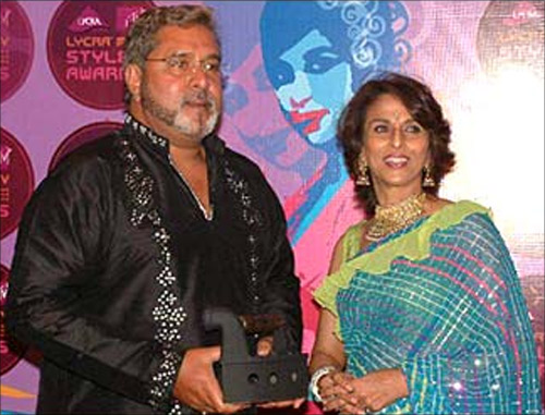 Vijay Mallya with Shobhaa De.
