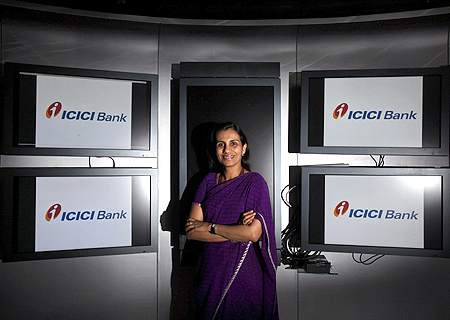 ICICI Bank's Chief Executive Officer Chanda Kochhar poses for a picture at the bank's headquarters in Mumbai.
