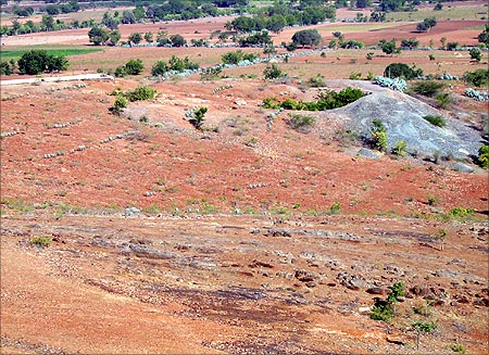 One of the ancient gold prospects near Ramagiri Gold mines.