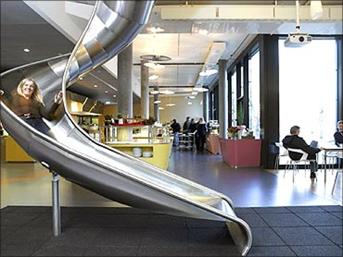 A slide inside Google office.