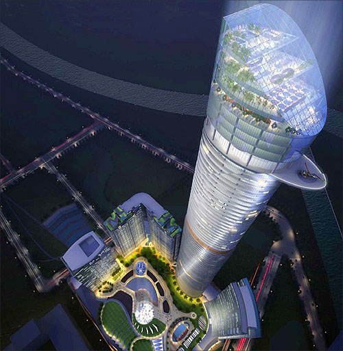 Design of the Supernova building to be built in Noida.