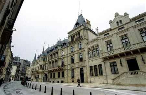 A general view of the Ducal Palace in Luxembourg.
