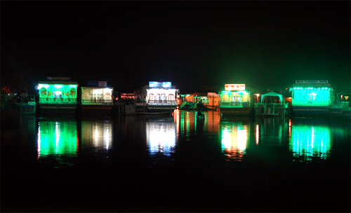Houseboats, Dal Lake.