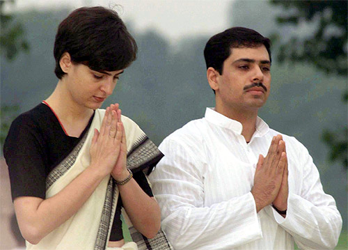Priyanka Gandhi and her husband Robert Vadra.