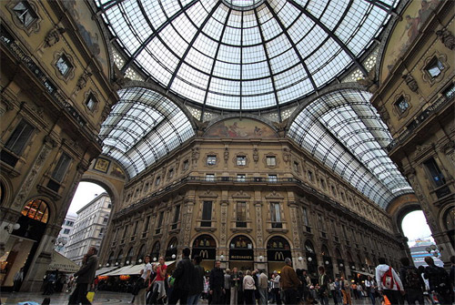 Galleria Vittorio Emanuele II Milan.