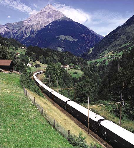 The Venice Simplon-Orient-Express in Lucerne Switzerland.