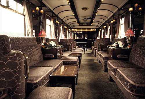 The Piano Bar on board the Venice Simplon-Orient-Express.