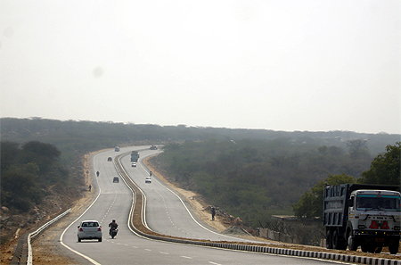 Gurgaon-Faridabad road.