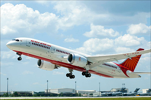 Boeing celebrates delivery of Air India's first 787 Dreamliner.