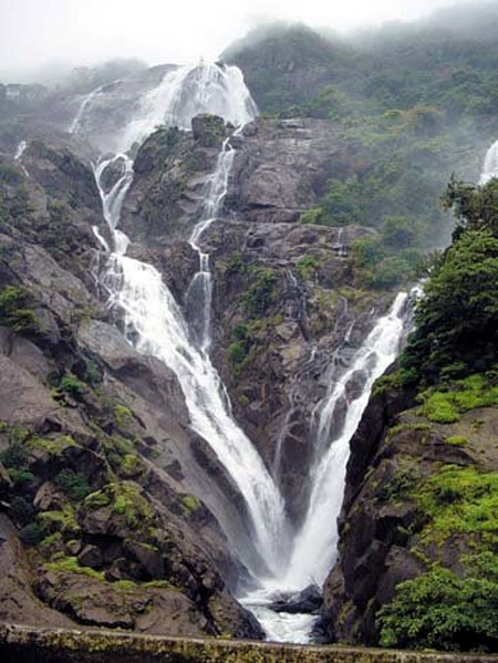 Dudhsagar waterfall.