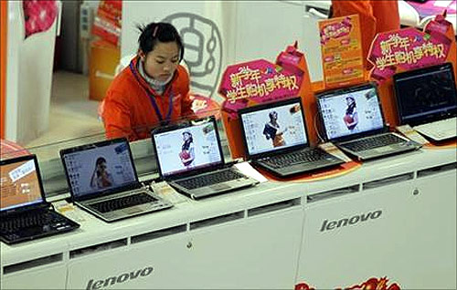 A Lenovo store in Shanghai.