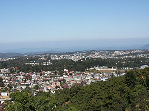 A view of Shillong town.