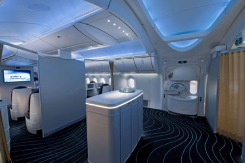 Dreamliner's interiors.