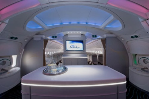 Dreamliner's interiors.