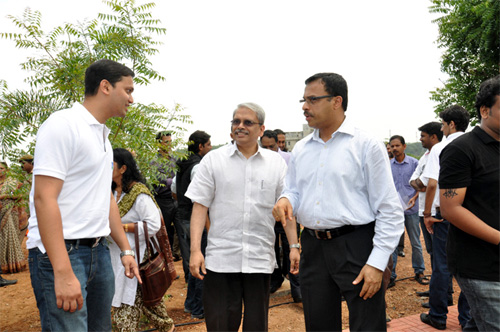 Kris Gopalakrishnan, Co-founder of Infosys at Startup Village campus.