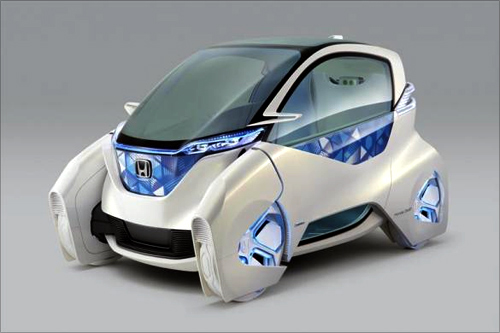 Honda Motor Co's electric Micro Commuter Concept city vehicle in an image released by Honda.