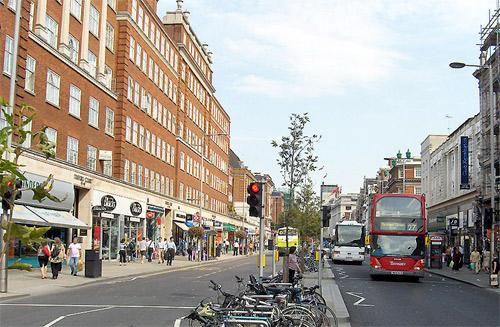 Kensington High Street.
