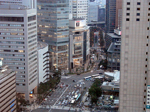 Umeda District of Osaka Japan.