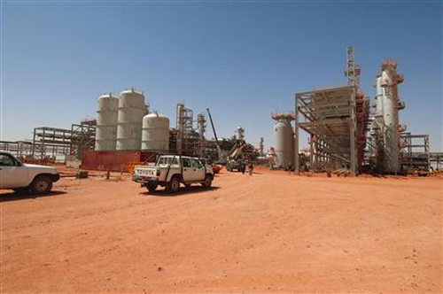 A general view of the In Amenas gas facility about 100 km (60 miles) from the Algerian and Libyan border.