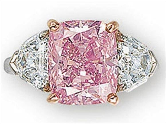 Fancy vivid pink diamond.