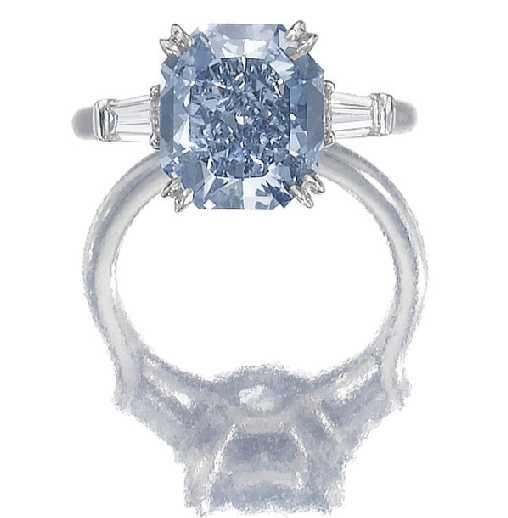 Vivid blue and diamond ring.