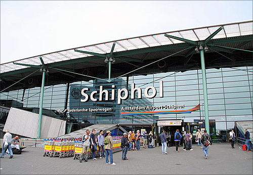 Amsterdam Schiphol Airport.