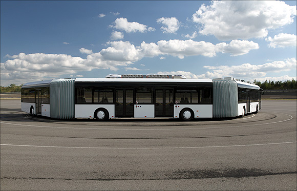 Travel in the world's longest bus!