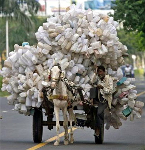 Risky rides on overloaded vehicles, but they don't care!