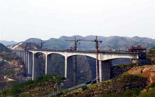 Qinghegou Railway Bridge.