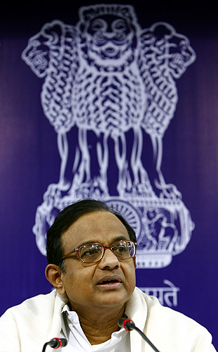 Finance Minister Palaniappan Chidambaram.