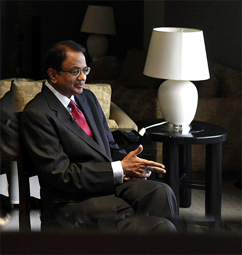 Finance Minister P. Chidambaram.
