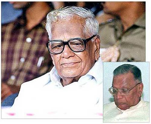Ramaswamy Venkataraman. Inset: Shankarrao Chavan